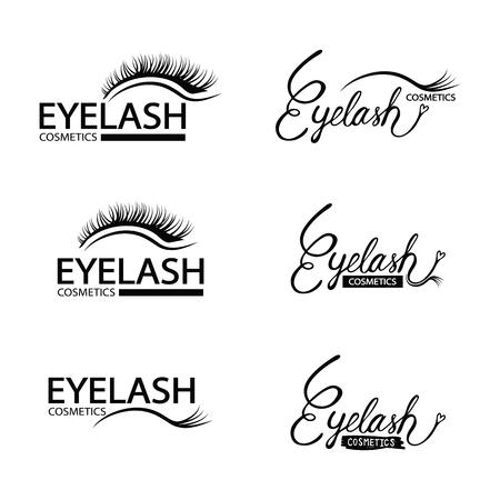 Set of eyelash logo vector illustration