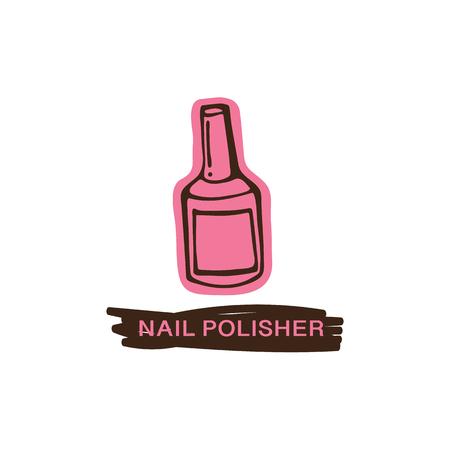 Nail polish hand drawn vector illustration Çizim
