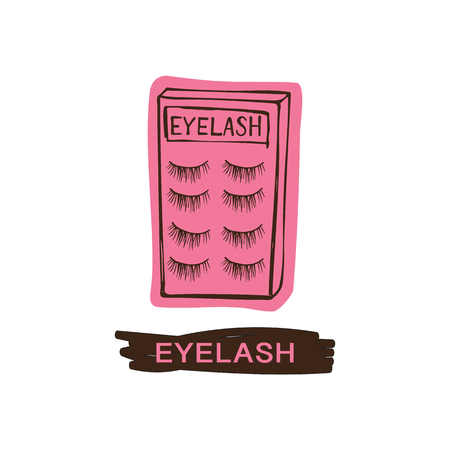 Eyelash vector illustration Çizim