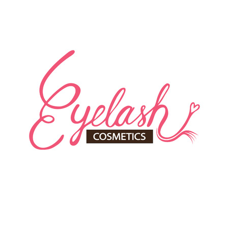 Eyelash logo vector illustration Stok Fotoğraf - 123026801