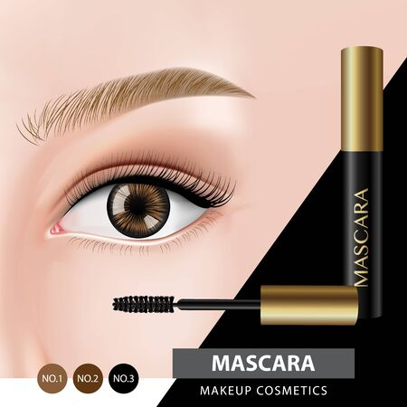Mascara banner design vector illustration