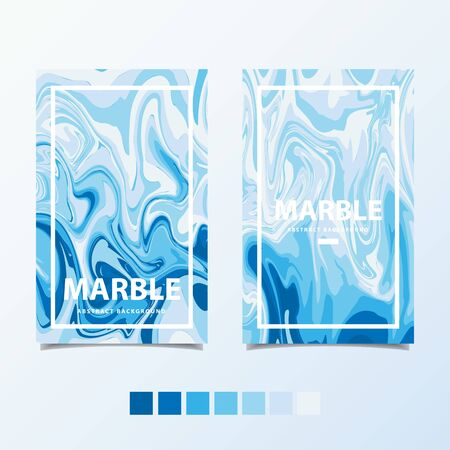 Blue marble template , abstract background vector illustration