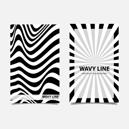Wavy lines abstract background vector illustration Reklamní fotografie - 139058843
