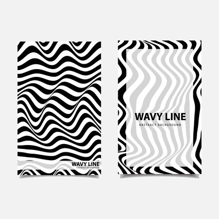 Wavy lines abstract background vector illustration
