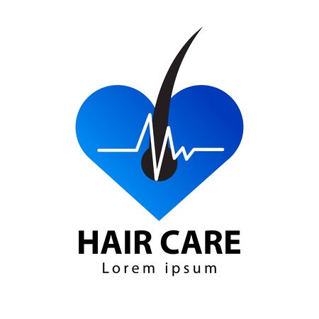 Hair care logo, icon vector illustration Illustration