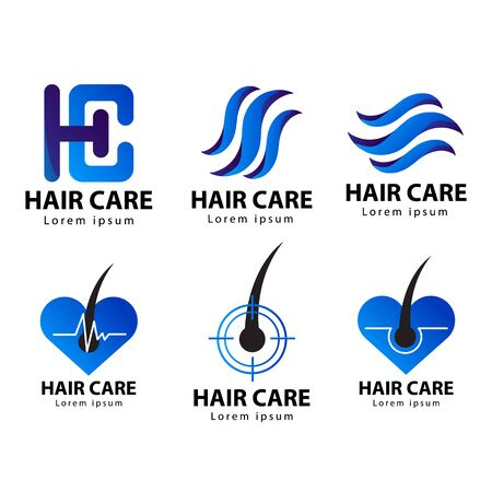 Hair care logo , icon vector illustration