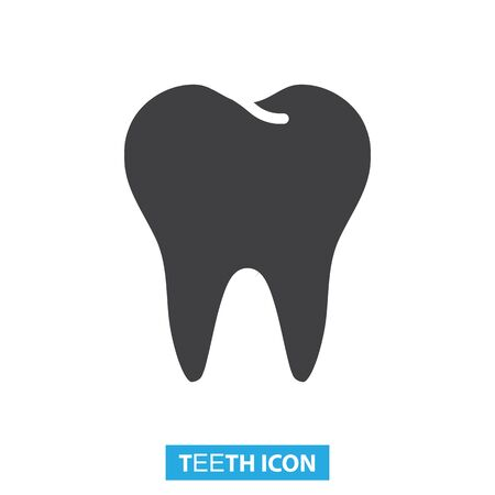 Normal healthy teeth icon vector illustration Illustration