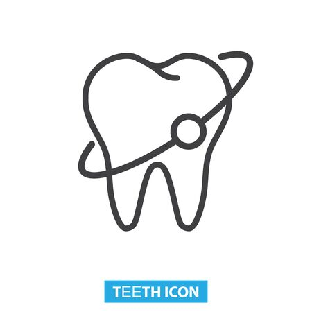 Teeth protection, dental care icon vector illustration Illustration