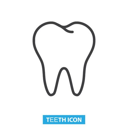 Normal healthy teeth icon vector illustration 일러스트