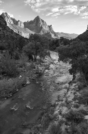 a watchman: Zion National Park Stock Photo