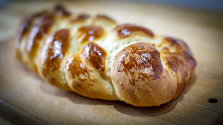 braided: Loaf of braided bread Stock Photo
