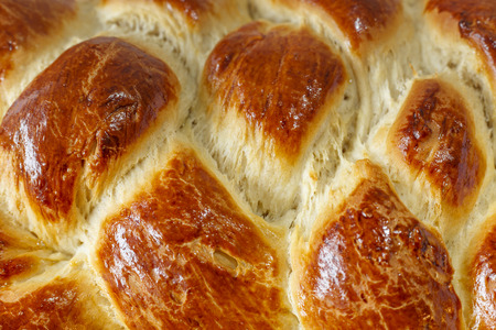 braided: Surface of sweet braided bread