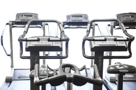 machines: Treadmill, Cardio Machines Stock Photo