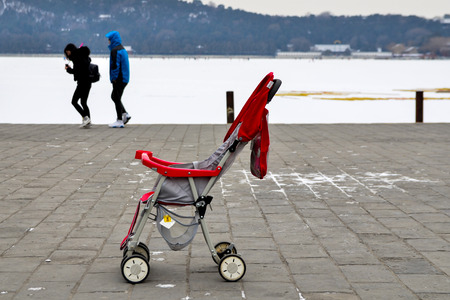 left behind: Lost a baby carriage