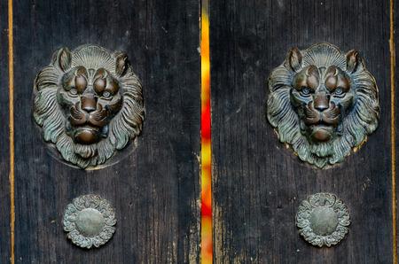 door knocker: Chinese element Door Knocker Stock Photo