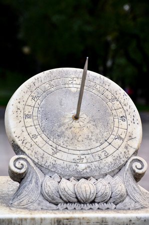 China sundial, It had been popular until mechanical clocks were introduced to China. Stock Photo