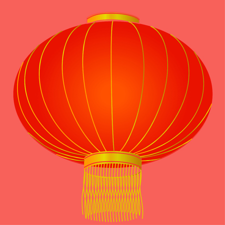 Red lanterns for Chinese New Year Illustration