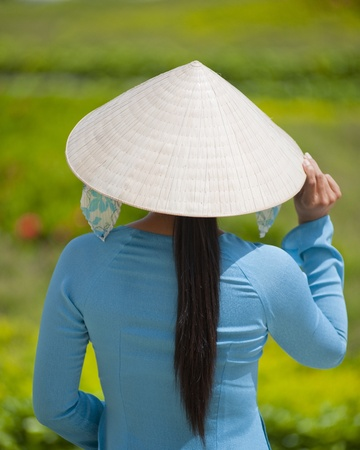 Vietnamese Woman at My Tho City