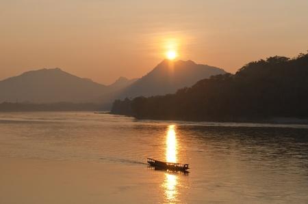 mekong: Sunset on the Mekong River
