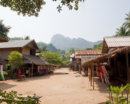 Main Street of Muangeko Village