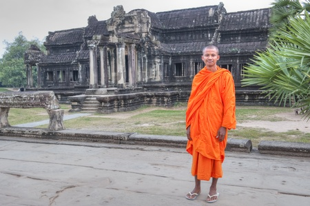 Buddhist Monk at Angkor Wat Stock Photo - 13259472