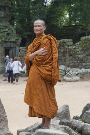 Boeddhistische monnik in Ta Prohm