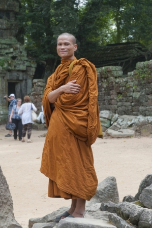 Buddhist Monk at Ta Prohm