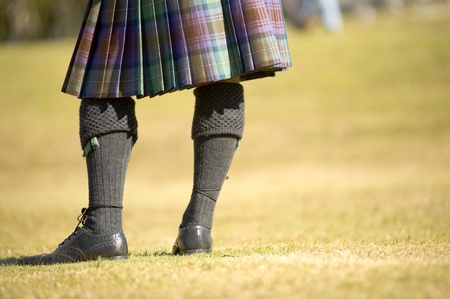 man in kilt at highland games in Orlando Florida