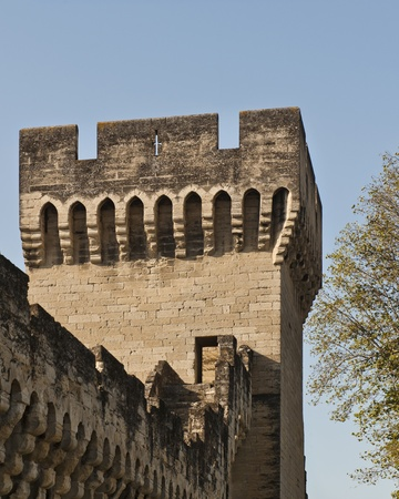 Archers Port in a tower along the wall of the medieval city of Avignon France