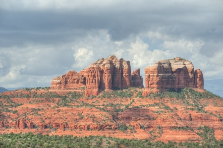 Cathedral rocks form another hillside near Sedona photo