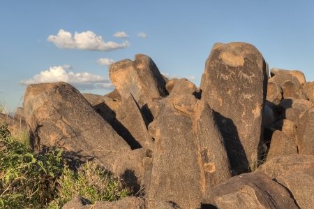 Petroglyphs at Saguaro National Park West near Tucson Arizona