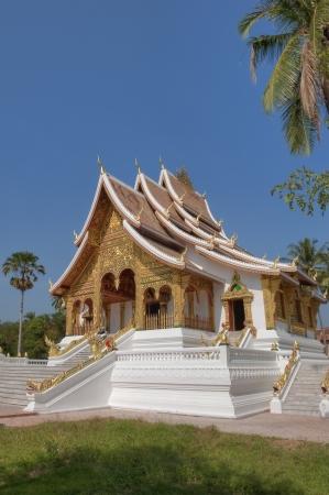 Royal Chapel of Haw Pha Bang richly ornamental with gold