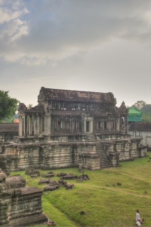 11th century: Tourists visit Angkor Wat, Ancient Ruins built in 11th Century