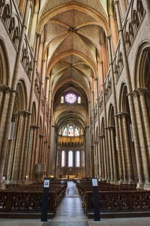 basillica: Interior of St  John s Cathedral of Lyon near the Soane RIver in Lyon France