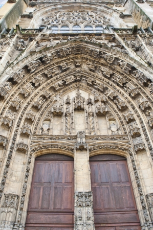 ornamentation of the doorway at Cathedral Saint Maurice in Vienne France