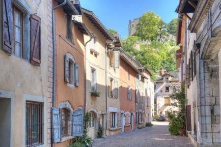 Saint Laurent Hill above a street in Cremieu