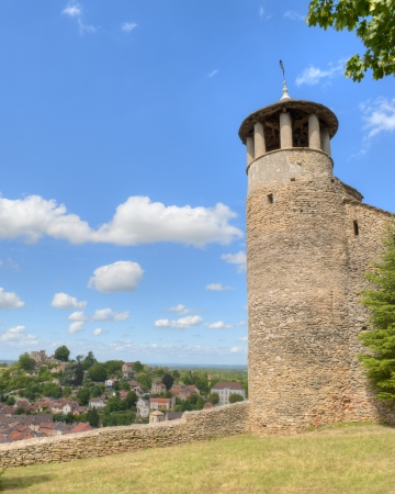 Medieval Tower of Saint-Hyppolyte over Cremieu France
