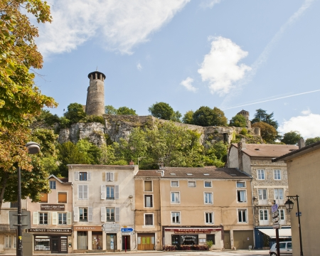 Saint-Hippolyte Hill Towers over Cremieu France