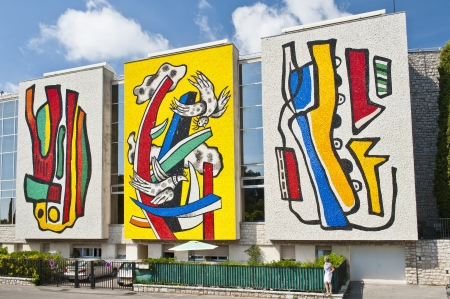 leger: museum of mosaics and paintings of Fernand Leger in Biot Provence France