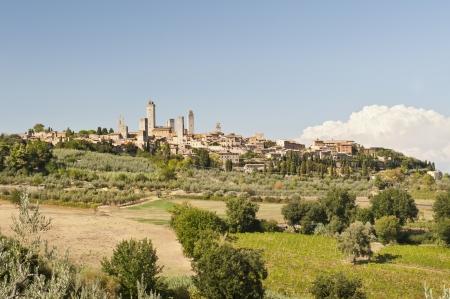 The Medieval Village of San Gimignano Banco de Imagens - 14026836