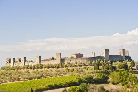The Medieval Village of Monteriggioni in Tuscany near Florence Italy  Banco de Imagens
