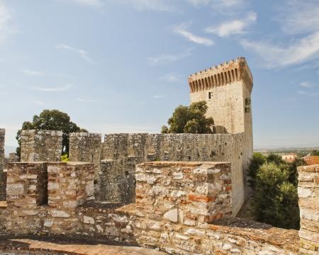 Fortress at Castiglione del Lago in Umbria Italy