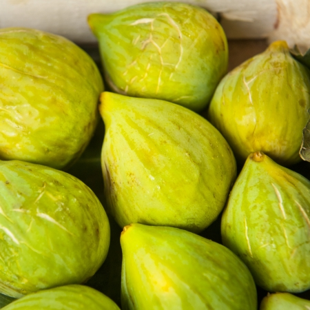 Figs in a produce market in Umbria Italy