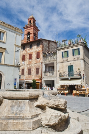 Piazza Mira Lago inside the walls of Castiglione del Lago Umbria Italy  Stock Photo