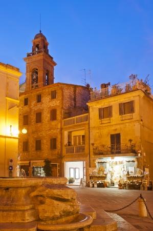 Piazza Mira Lago center of Castiglione del Lago