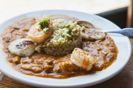Gumbo with Chicken, Seafood   Sausage