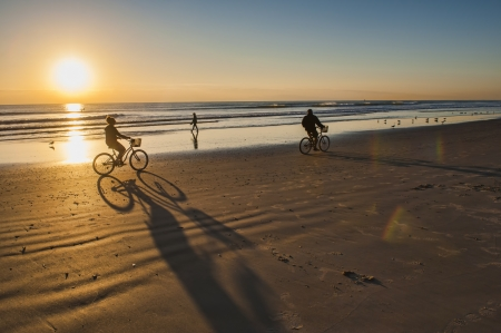 Bicycle Ride at Sunrise on Cocoa Beach  Stock Photo - 14662658