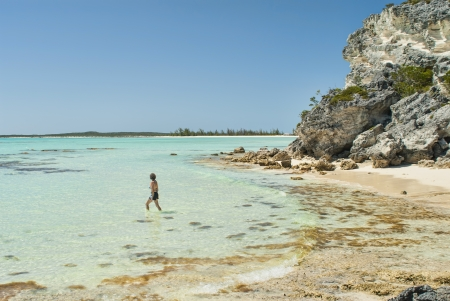 Frenchamans Bay at Cat Island Bahamas  photo