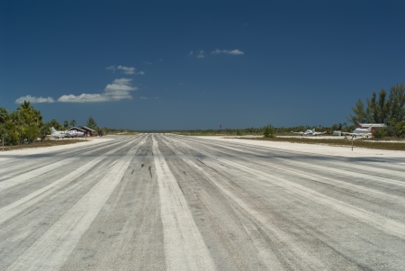 cat island: private airport at Cat Island Bahamas Editorial