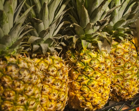 Pineapples for Sale Stock Photo